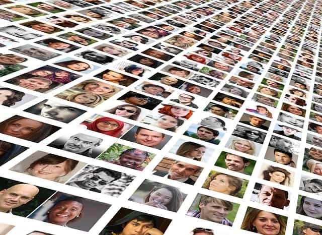 Pellicule de portraits miniaturisés