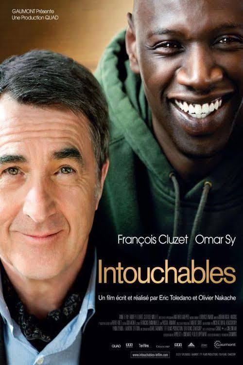 Affiche du film les Intouchables avec François Cluzet et Omar Sy. Récit autobiographique de Philippe Bozzo Di Borgo
